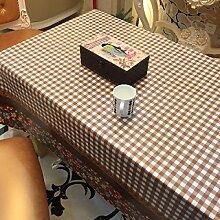 2ST Tang Moine Die Neuen Sommer Garten Wildblumen Blühen Kariert Tischdecken Tischdecken,137cm*137cm