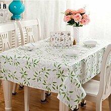 2ST Tang Moine Frühling Garten Blätter Wasser Schön Tischdecken Tischdecken,137cm*137cm