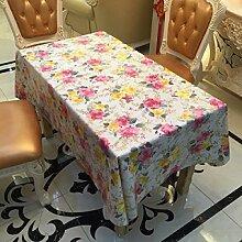 2ST Tang Moine Garten Landschaft Blumengärten Rosen Wasser Wärme Tischdecken Tischdecken,137cm*180cm