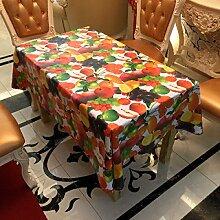 2ST Tang Moine Garten Obst Art Und Weise Populär Schmutz Tischdecken Tischdecken,137cm*137cm