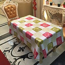 2ST Tang Moine Garten Obst Kariert Erdbeeren Wasser Wärme Tischdecken Tischdecken,137cm*250cm
