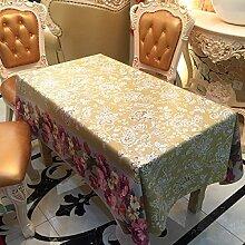 2ST Tang Moine Sommer Garten Gartenblumen Neu Wasserdicht Tischdecken Tischdecken,137cm*137cm