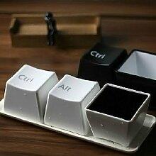 3Pcs kreative Tastatur Tea Cup Tastatur Ctrl Del Alt Tasse Kaffee-Haferl