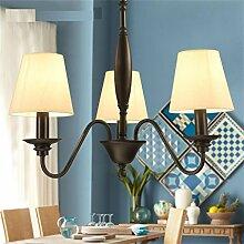 Amerikanischen Land schmiedeeiserne Kronleuchter Wohnzimmer Lampe Schlafzimmer Lampe minimalistischen modernen Garten mediterranes Restaurant-Beleuchtung
