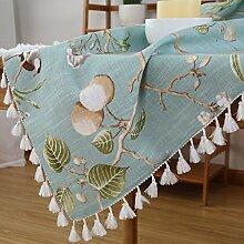 Aus Baumwolle Und Leinen Tischdecken/American Land Tischdecke/Tee Tischdecke/Tischtuch/Garten Frische Tischdecken-A 140x200cm(55x79inch)