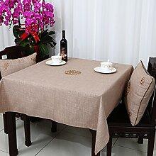 Baumwolle Garten Tischdecke/Leinen Tabelle Tuch Tischdecke/Tee Tischdecke-C 150x150cm(59x59inch)