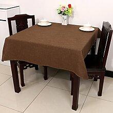 Baumwolle Garten Tischdecke/Leinen Tabelle Tuch Tischdecke/Tee Tischdecke-E 150x220cm(59x87inch)