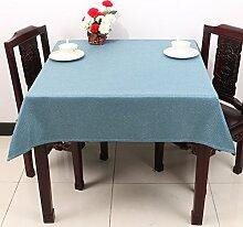 Baumwolle Garten Tischdecke/Leinen Tabelle Tuch Tischdecke/Tee Tischdecke-H 140x190cm(55x75inch)