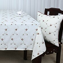Baumwolle Garten Tischdecke/Leinen Tabelle Tuch Tischdecke/Tee Tischdecke/Schreibtisch-tischdecke-B 90x150cm(35x59inch)