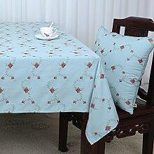 Baumwolle Garten Tischdecke/Leinen Tabelle Tuch Tischdecke/Tee Tischdecke/Schreibtisch-tischdecke-A 90x150cm(35x59inch)