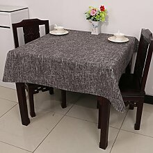 Baumwolle Garten Tischdecke/Leinen Tabelle Tuch Tischdecke/Tee Tischdecke-D 150x210cm(59x83inch)