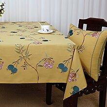 Baumwolle Garten Tischdecke/Leinen Tabelle Tuch Tischdecke/Tee Tischdecke/Schreibtisch-tischdecke-J 150x210cm(59x83inch)