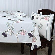 Baumwolle Garten Tischdecke/Leinen Tabelle Tuch Tischdecke/Tee Tischdecke/Schreibtisch-tischdecke-I 130x130cm(51x51inch)