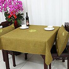 Baumwolle Garten Tischdecke/Leinen Tabelle Tuch Tischdecke/Tee Tischdecke-B 110x110cm(43x43inch)