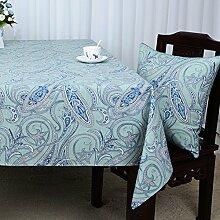 Baumwolle Garten Tischdecke/Leinen Tabelle Tuch Tischdecke/Tee Tischdecke/Schreibtisch-tischdecke-G 130x130cm(51x51inch)