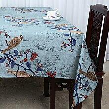 Baumwolle Garten Tischdecke/Leinen Tabelle Tuch Tischdecke/Tee Tischdecke/Schreibtisch-tischdecke-F 150x150cm(59x59inch)
