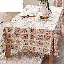 Baumwolle Garten Tischdecke/Tischtuch/Tee Tischdecke/Tischtuch-A 180x130cm(71x51inch)
