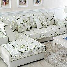 Baumwolle Stoff Sofakissen/ vier Jahreszeiten-Garten-Sitzplatz/ einfach Slip Sofa moderne Handtuch-B 110x110cm(43x43inch)