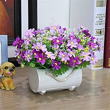 Beata.T Künstliche Blumen Anzug Garten Blume vergossen Wohnzimmer Dekoration Blumen künstliche Blume Kunst Dekoration Seide, b Beata.T Künstliche Blumen Anzug