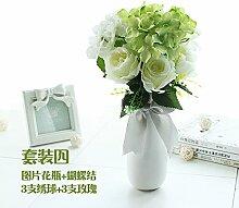 Beata.T Künstliche Blumen Anzug Weißer Boden Blumen Garten Garten Wohnzimmer Home Transparent Simulation Dekoration, D