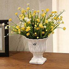 Beata.T Künstliche Blumen Fake Blume Orchidee Hause Dekoration Blume Tisch Wohnzimmer Dekoration Flasche Flasche Blume Garten Wind, E