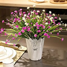 Beata.T Künstliche Blumen Fake Blume Orchidee Hause Dekoration Blume Tisch Wohnzimmer Dekoration Flasche Flasche Blume Garten Wind, C