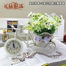 Beata.T Künstliche Blumen Home Ornamente Ornamente Kunststoff Blume Dekoration Blumen Garten Blumen Platziert Blumen, B