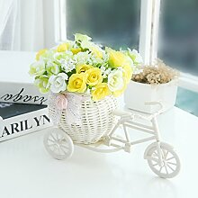 Beata.T Künstliche Blumen Home Ornamente Verziert Kunststoff Blume Dekoration Blumen Garten Blumen, C