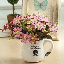 Beata.T Künstliche Blumen Pastoraler Garten Rose Blume Blume Ornament Blume kleine Töpfe insgesamt floral Anzug, h