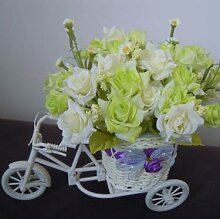 Beata.T Künstliche Blumen Seide Blume Rose Parkplatz Garten Wohnzimmer Dekoration Dekoration Blumen, I