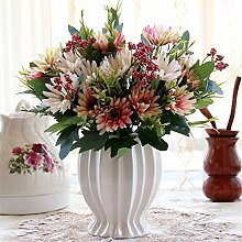 Beata.T Künstliche Blumen Set Rose Blume Seide Garten Hause Wohnzimmer Tisch Verzieren Blume Tisch Blumen, Si