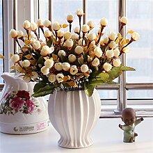 Beata.T Künstliche Blumen Set Rose Blume Seide Garten Hause Wohnzimmer Tischdekoration Blume Tisch Display Blumen, Sn