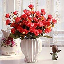Beata.T Künstliche Blumen Set Rose Blume Seide Garten Hause Wohnzimmer Tischdekoration Blume Tisch Display Blumen, J