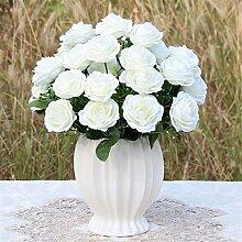 Beata.T Künstliche Blumen Set Rose Blume Seide Garten Hause Wohnzimmer Tischdekoration Blume Tisch Display Blumen, Se