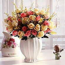 Beata.T Künstliche Blumen Set Rose Blume Seide Garten Hause Wohnzimmer Tischdekoration Blume Tisch Anzeige Blumen, Z