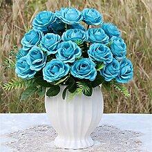 Beata.T Künstliche Blumen Set Rose Blume Seide Garten Hause Wohnzimmer Tisch Dekoriert Blume Tisch Display Blumen, Sq