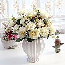 Beata.T Künstliche Blumen Set Rose Blume Seide Garten Hause Wohnzimmer Tischdekoration Blume Tisch Display Blumen, Y