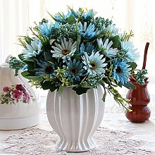 Beata.T Künstliche Blumen Set Rose Blume Seide Garten Hause Wohnzimmer Tisch Dekoriert Blume Tisch Anzeige Blumen, G