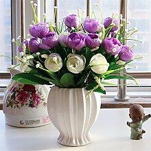 Beata.T Künstliche Blumen Set Rose Blume Seide Garten Hause Wohnzimmer Tischdekoration Blume Tisch Display Blumen, Sg