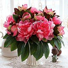 Beata.T Künstliche Blumen Set Rose Blume Seide Garten Hause Wohnzimmer Tischdekoration Blume Tisch Display Blumen, Sa