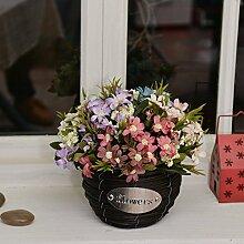 Beata.T Künstliche Blumen Set Simulation Gefälschte Blume Garten Stil Tisch Blumenmöbel, B