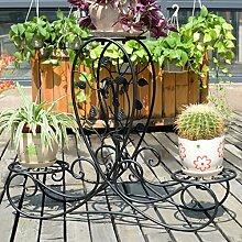 Blumen Regale Blumentreppe Blumen Regale , dekoratives Design, Garten/Terrasse,Pflanzentreppe Blumenbank ( Farbe : 2 )