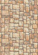 Bodenbelag Aquamatte Weichschaum Badematte Matte Steine versch. Größen und Farben (150 x 130, terra)