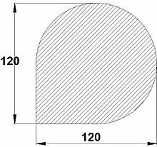 Bodenplatte Stahl grau Tropfen groß 1200x1200x2 mm Kaminofen/Holzofen Hitzebeständig einbrennlackiert Senotherm