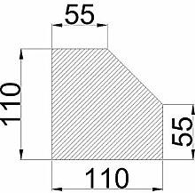 Bodenplatte Stahl schwarz Fünfeck Kaminofen/Holzofen Hitzebeständig einbrennlackiert Senotherm