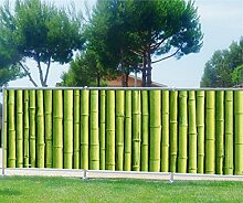 Brise Vue bedruckt, Garten, Terrasse, Balkon Deko Bambus, 100%, 200x78cm