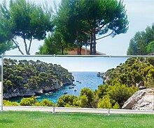 Brise Vue bedruckt, Garten, Terrasse, Balkon Deko Die Buchten, 100%, 180x70cm