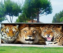 Brise Vue, Garten, Terrasse, Balkon Deko Wildtiere, 100%, 180x70cm