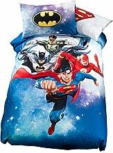 Caleffi Bettwäsche-Set Superhelden, für Einzelbett, Digitaldruck