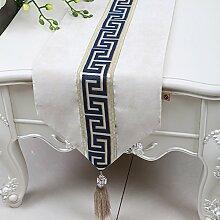 Chinesischen Einfache Tischläufer/Moderne Garten Tischdecke/Tee Tischdecke-Q 33x230cm(13x91inch)